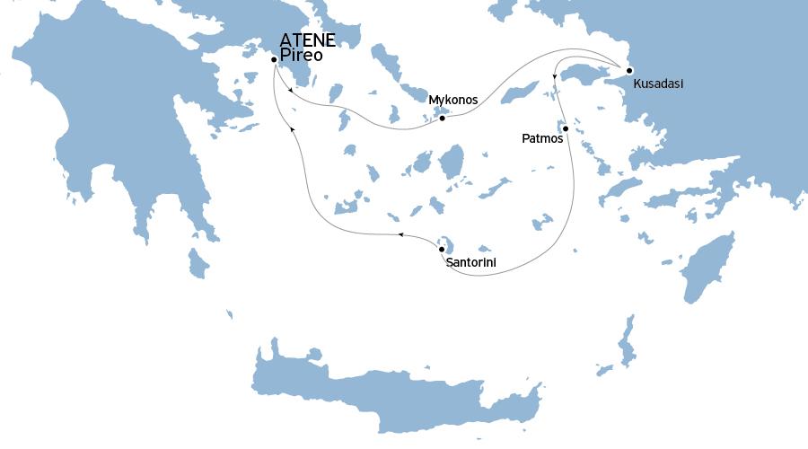Crociera Egeo Iconico 3 notti da Atene Venerdì-Lunedì