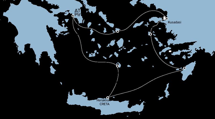 Crociera Egeo Iconico 4 notti da Atene  Lunedì-Venerdì
